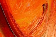 oilpainting yellow för orange red Arkivfoto