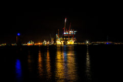 Oilrig in Amsterdam. Oilrig for maintenance in the harbor of Amsterdam Royalty Free Stock Photo
