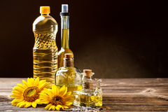 Oils in bottles Stock Photo