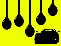 Oils Drips. 5 Oil drips with a high performance Race Car - Racing Concept Royalty Free Stock Image
