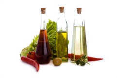 Oils and vegetables Stock Photography
