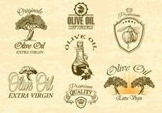 Oilve oil labels Stock Image