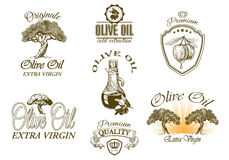 Oilve oil labels Stock Photography