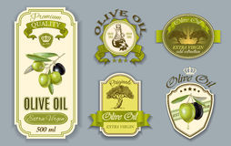 Oilve oil labels stock illustration