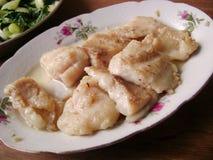 Oily flounder fillets Stock Images