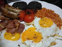 English breakfast served hot and fresh Stock Image