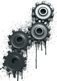Oily Gears Royalty Free Stock Images