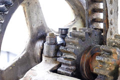 Oily gears Royalty Free Stock Photo