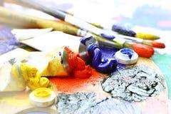Oily paint Stock Photo