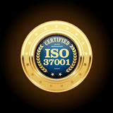 OIN 37001 - insignes de systèmes de gestion d'Anti-corruption Photo libre de droits