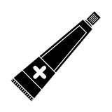 Ointment cream tube medicine pictogram Stock Photography