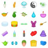 Ointment icons set, cartoon style. Ointment icons set. Cartoon set of 25 ointment vector icons for web isolated on white background Royalty Free Stock Photos