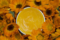 Ointment of marigolds. royalty free stock photos