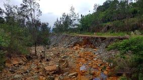 ointressant klimatkatastrof naturliga thailand arkivbild