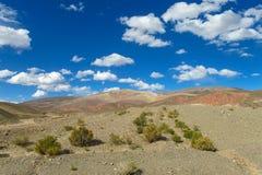 Ointressant landskap för Altiplano öken Arkivbilder