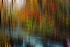 Oirase的秋天颜色劈裂 免版税库存图片
