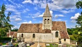 Oise, das malerische Dorf von Reilly Stockbild