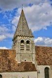 Oise, het schilderachtige dorp van Reilly Stock Afbeelding