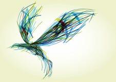 Oiseau abstrait illustration de vecteur