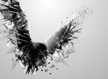 Oiseau abstrait noir géométrique illustration libre de droits