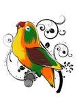 Oiseau Art Illustration Vector d'amour colorant le fond décoratif illustration stock