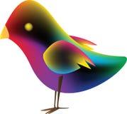 Oiseau avec la maille de gradient Images libres de droits