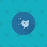 Oiseau avec le Viburnum Photo stock