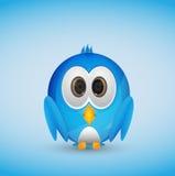 Oiseau bleu de Twitter Photographie stock libre de droits