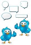 Oiseau bleu - donner pouces vers le haut illustration de vecteur