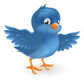 Oiseau bleu heureux illustration libre de droits