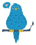 Oiseau bleu mignon Image stock