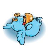 Oiseau bleu mort Photographie stock libre de droits