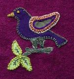 Oiseau brodé Photos libres de droits