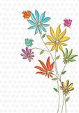 Oiseau coloré de fleur de l'espace Image libre de droits