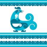 Oiseau décoratif de vecteur illustration libre de droits