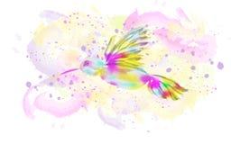 Oiseau d'aquarelle Illustration illustration stock