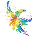 Oiseau d'imagination d'éclaboussure Photos libres de droits
