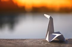 Oiseau d'Origami Image libre de droits