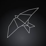 Oiseau d'Origami Photographie stock