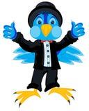 Oiseau dans le costume Image stock