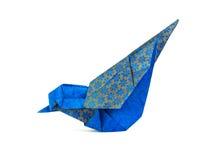 Oiseau de bleu d'origami Image libre de droits