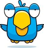 Oiseau de bleu de bande dessinée Images libres de droits