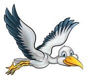 Oiseau de cigogne de bande dessinée Photos libres de droits