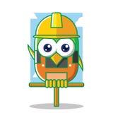 Oiseau de constructeur avec le masque jaune Photos stock
