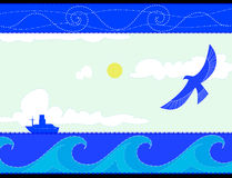 Oiseau de course de bateau Photographie stock