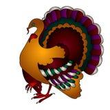 Oiseau de dinde de thanksgiving de vecteur Photos libres de droits