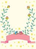 Oiseau de fleur d'invitation Images libres de droits