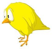 Oiseau de mélancolie de personnage de dessin animé Image libre de droits