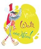 Oiseau de Noël avec la bougie flamboyante Photo stock