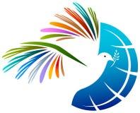 Oiseau de paix Images libres de droits